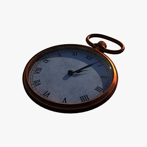 pocket watch 3d model