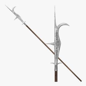 3d model guisarme pole weapon