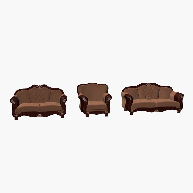 3d sultan sofa armchair model