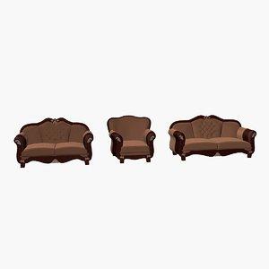 3d sultan sofa armchair model