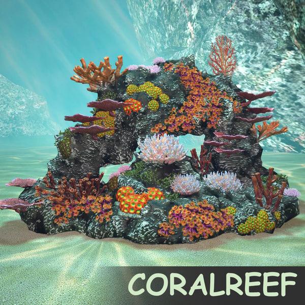 3d coralreef coral reef model