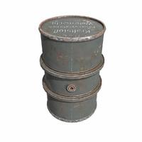 Kraftstoff 200L fuel barrel