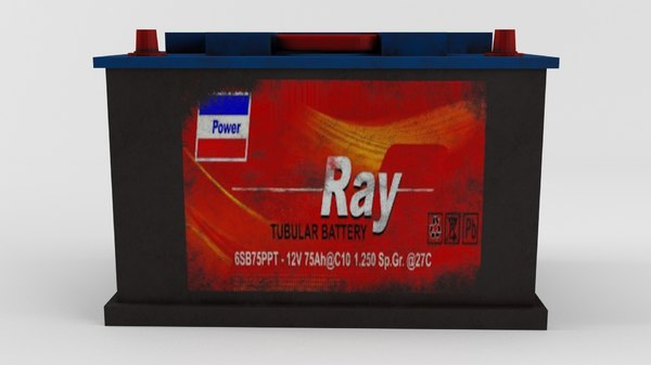 3d car battery model