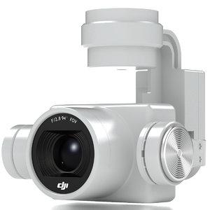 camera gimbal dji phantom 3d obj