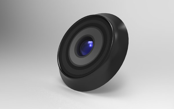 primary camera lens 3d model