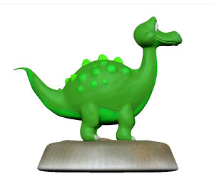 sculpt dinosaur animation 3d model