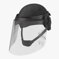 3d model bloody police riot gear