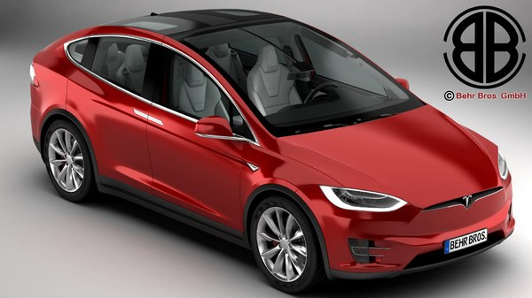 tesla x 2017 modelled 3d 3ds