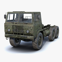 low-poly rusty army truck 3d max