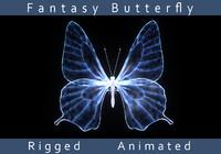 fantasy butterfly 3d fbx