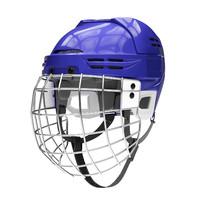 3d model ice hockey helmet metal