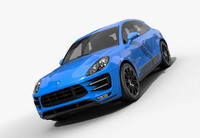 3d model porsche macan turbo 2017