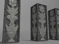 decorative architectural element 3d model