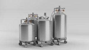 3d model stem cells storage cylinder