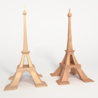 Eiffel Tower_low poly