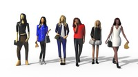 Low Poly Girls Pack
