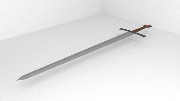 blender sword 3d obj