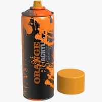 spray paint bomb drop 3d model