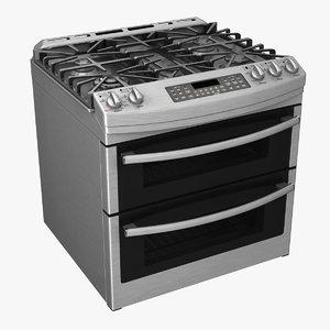 oven gas range 3d model