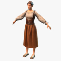 medieval peasant female 3d max