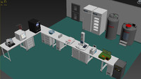 3d model of laboratory equipment pharmaceutical