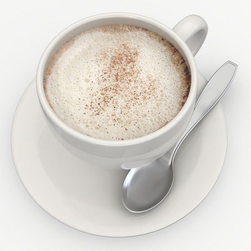 3d cappuccino 2 model
