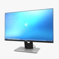 monitor dell s2316h 3d model