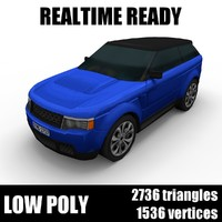 Generic low poly SUV 001