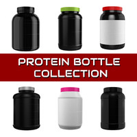 3d model of protein bottle