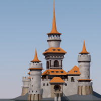 fantastic castle dreams 3d max