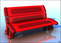 bench seat plastic 3d obj