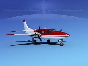 propellers piper 600 aerostar 3d model