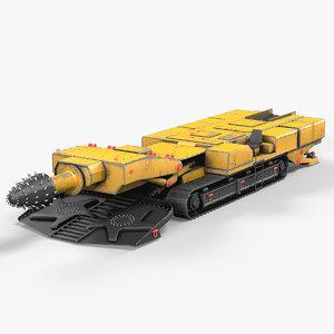 roadheader 3d model