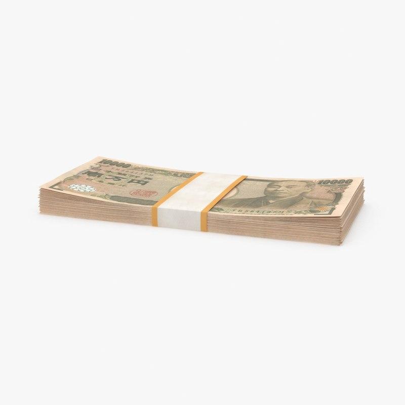 3d 10000 yen note pack