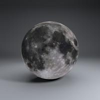 4k moon globe obj