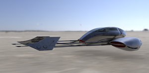 desert speeder 3d model