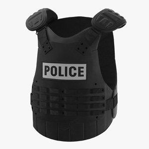 police riot gear 3d model