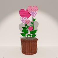 valentines day 3d model