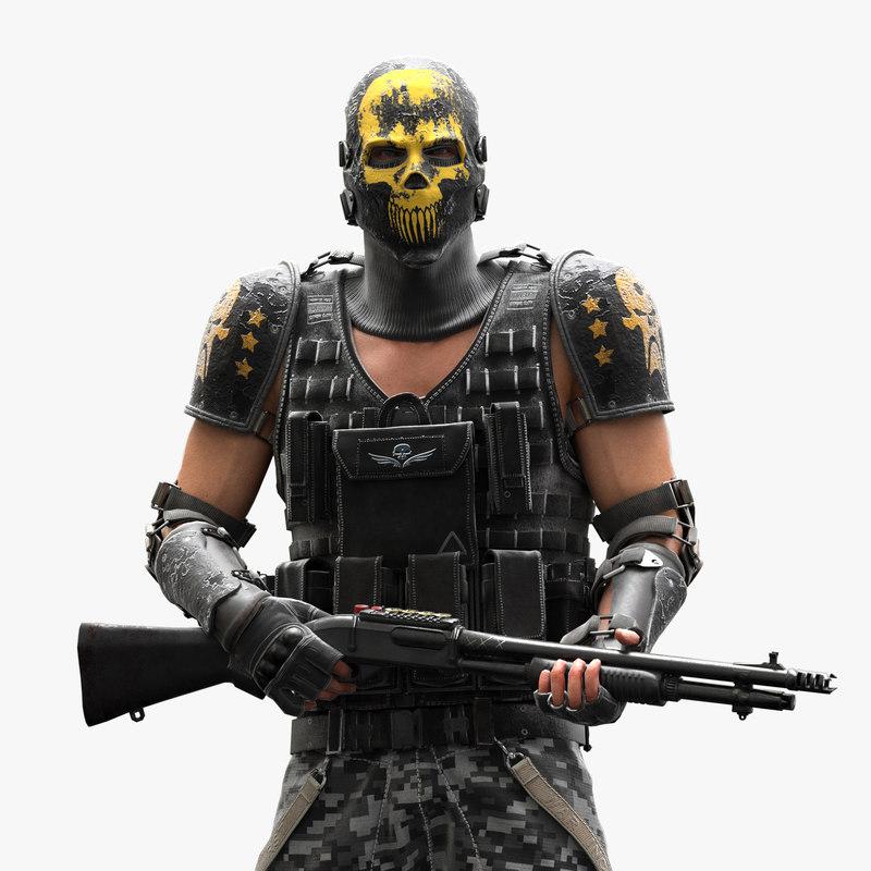 bandit character rigged x