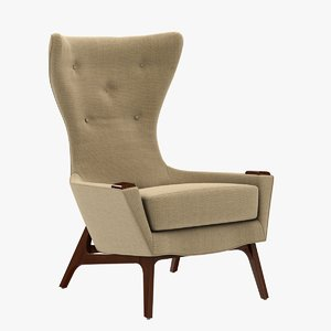 3d model chair lily jack wing