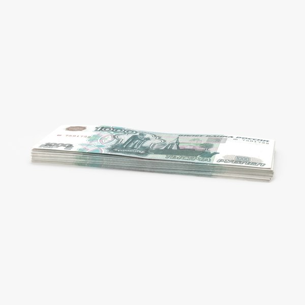 1000 ruble note stack 3d max