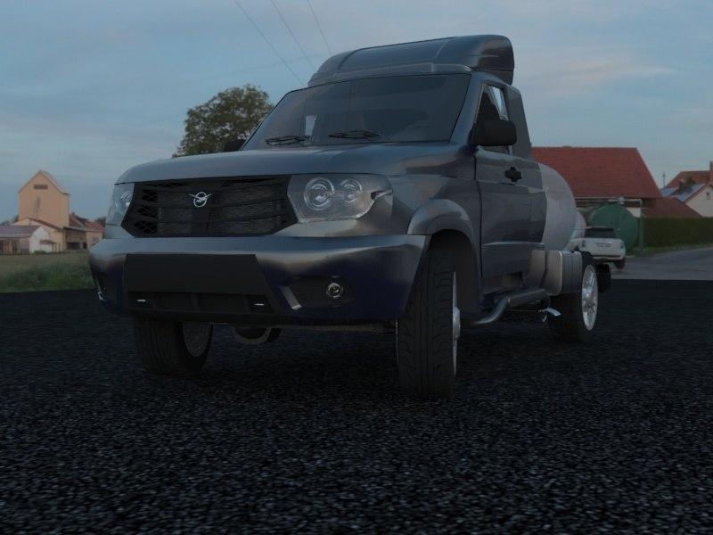 suv uaz patriot 3d model