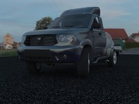 suv uaz patriot 3d model