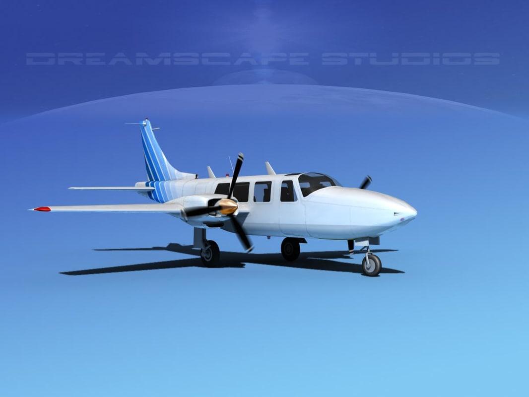 3d propellers piper 600 aerostar model