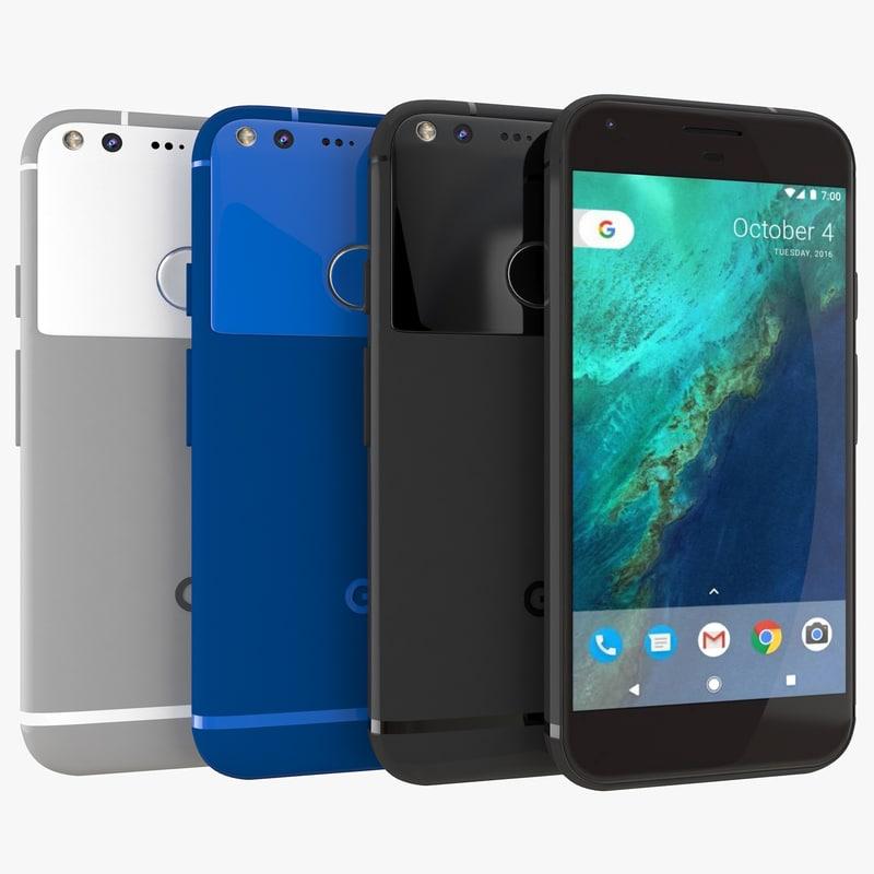 3d model google pixel xl color