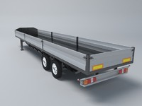 Semitrailer for the transport of small tonnage