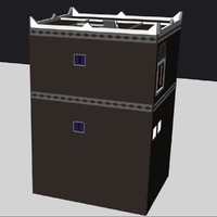 3d model house historic old