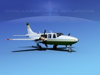 propellers piper 600 aerostar 3d dxf