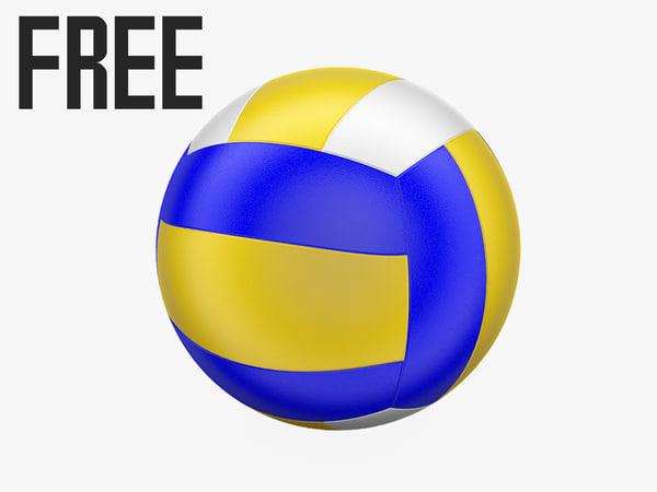 free obj model ball volleyball