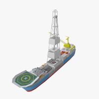 3d drill ship